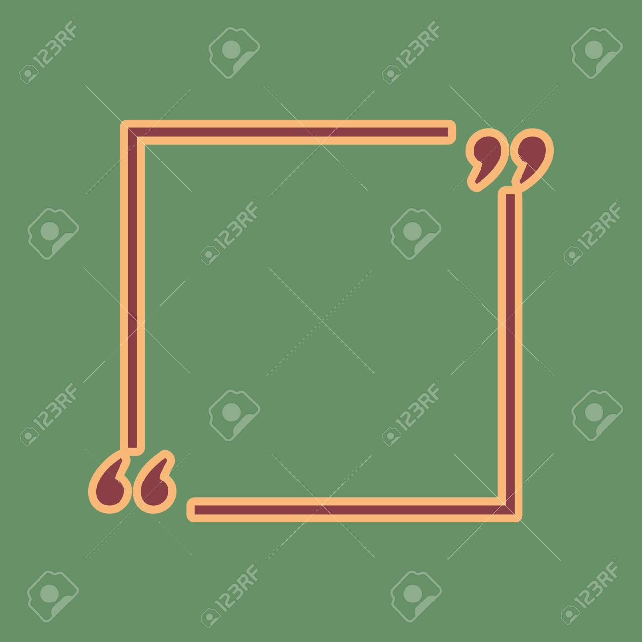 Text Quote Sign Vector Cordovan Icon And Mellow Apricot Halo