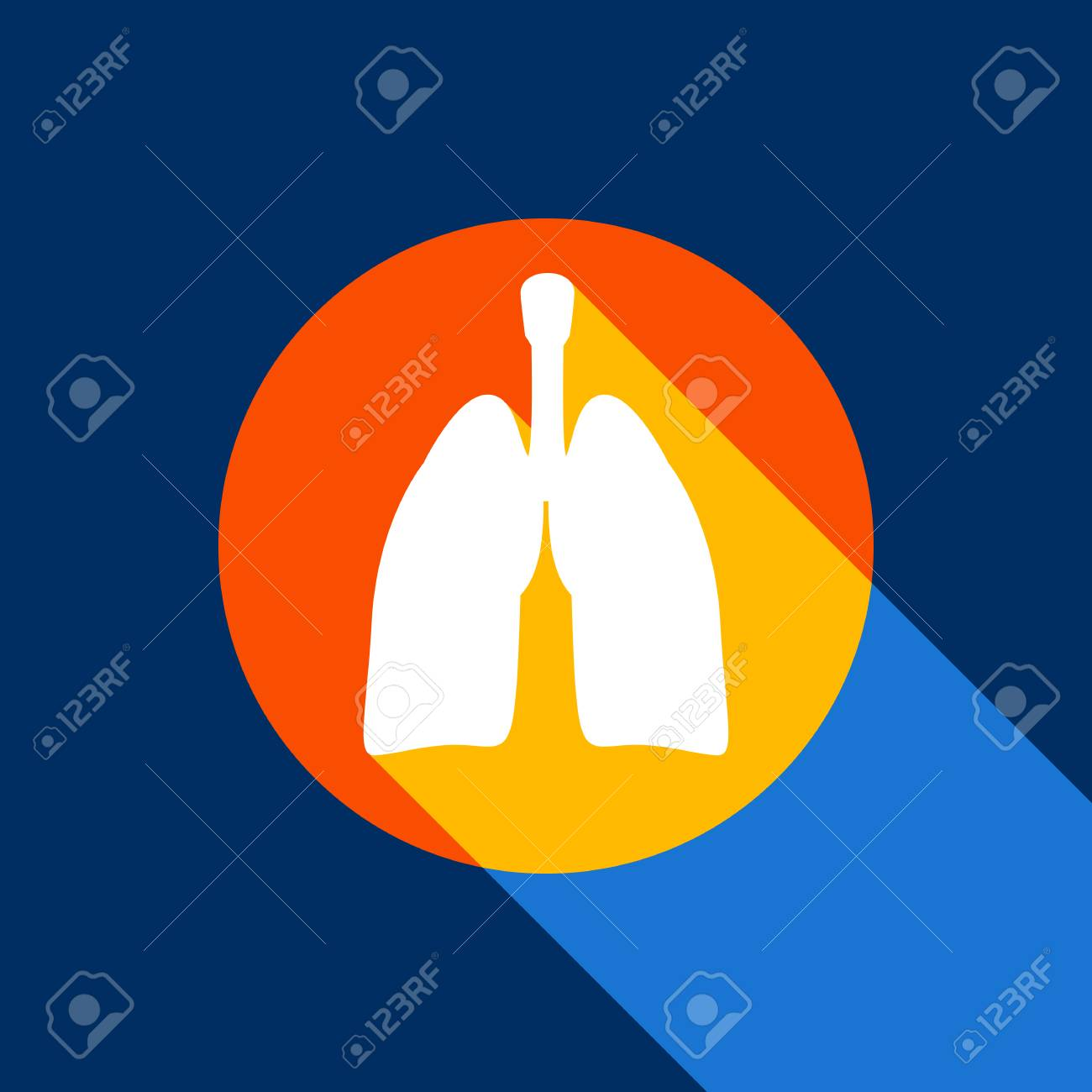 Anatomía Humana. Signo De Los Pulmones Vector. Icono Blanco En ...