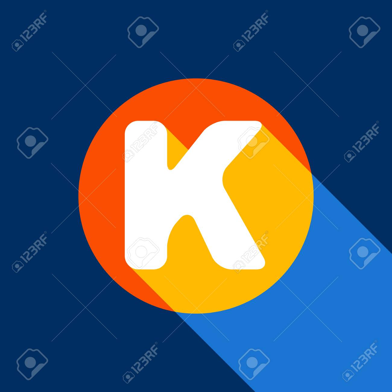 Letter K Sign Design Template Element Vector White Icon On