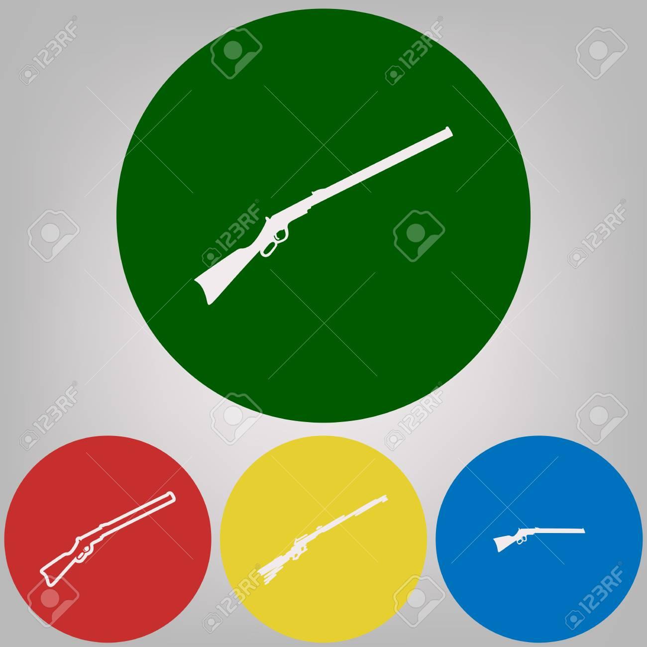 Hunting rifle icon vector illustration  Silhouette gun  Vector