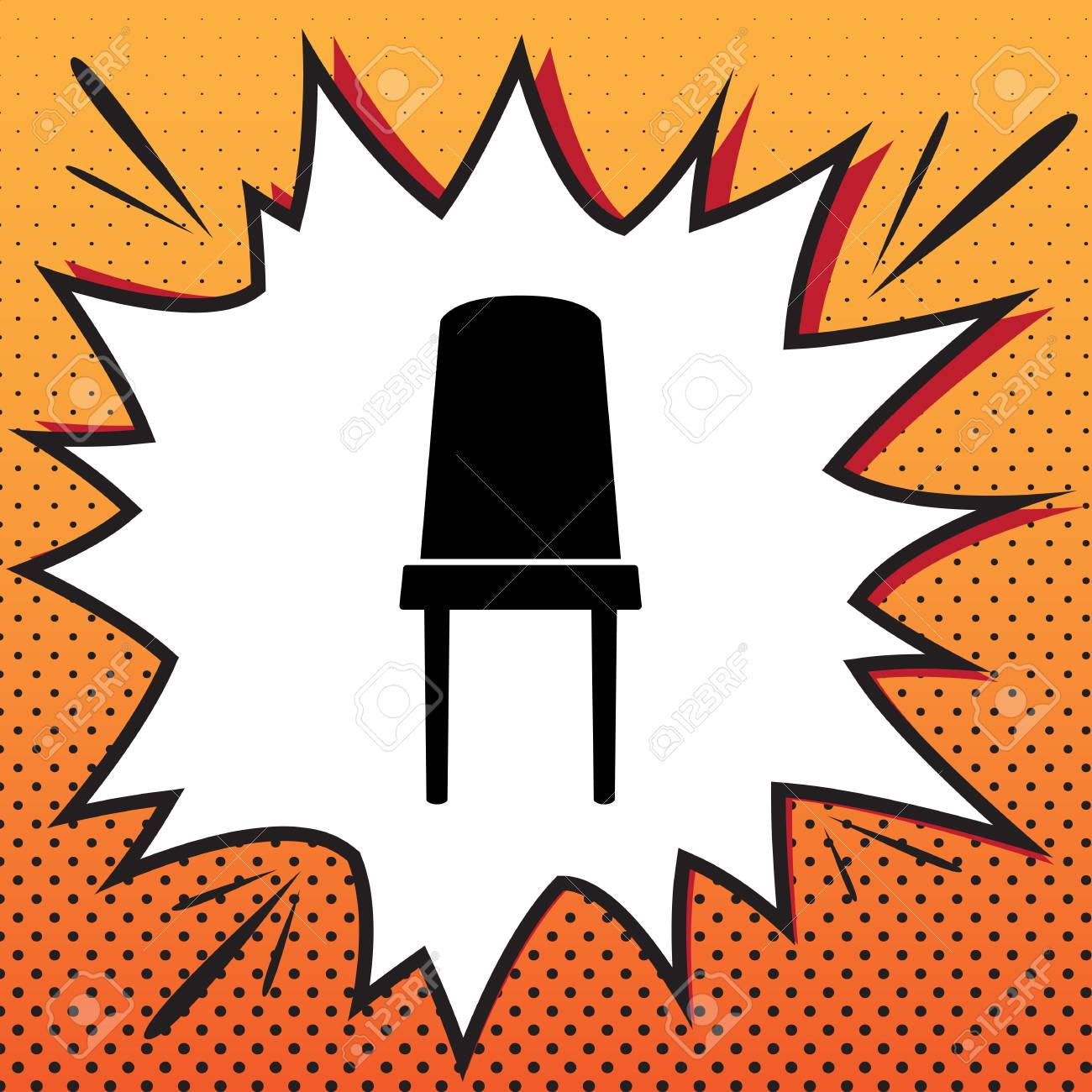 Remarkable Office Chair Sign Vector Comics Style Icon On Pop Art Background Download Free Architecture Designs Scobabritishbridgeorg