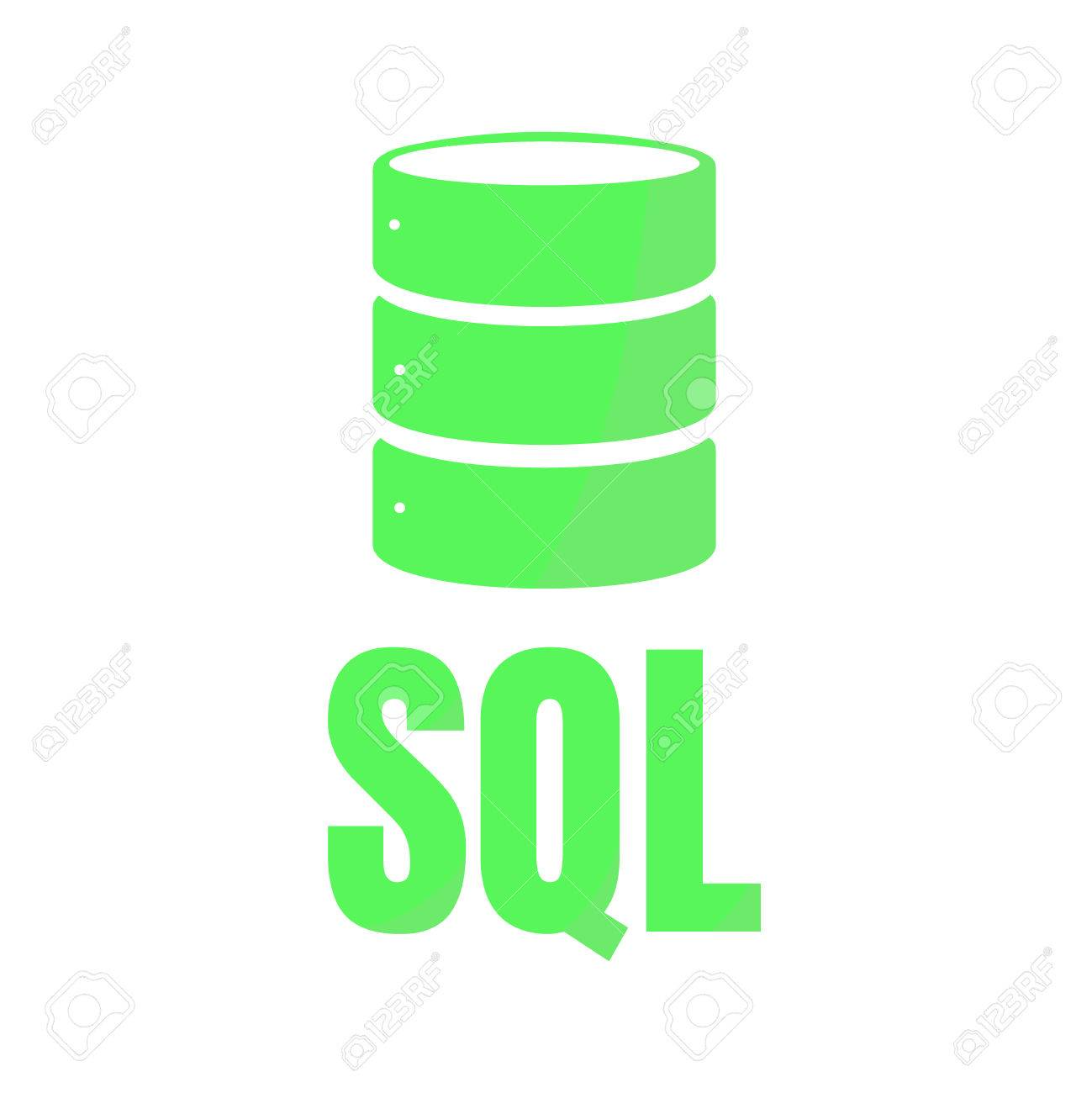 sql database icon logo design ui or ux app green inscription rh 123rf com database logo inspiration database logon failed. crystal reports c#