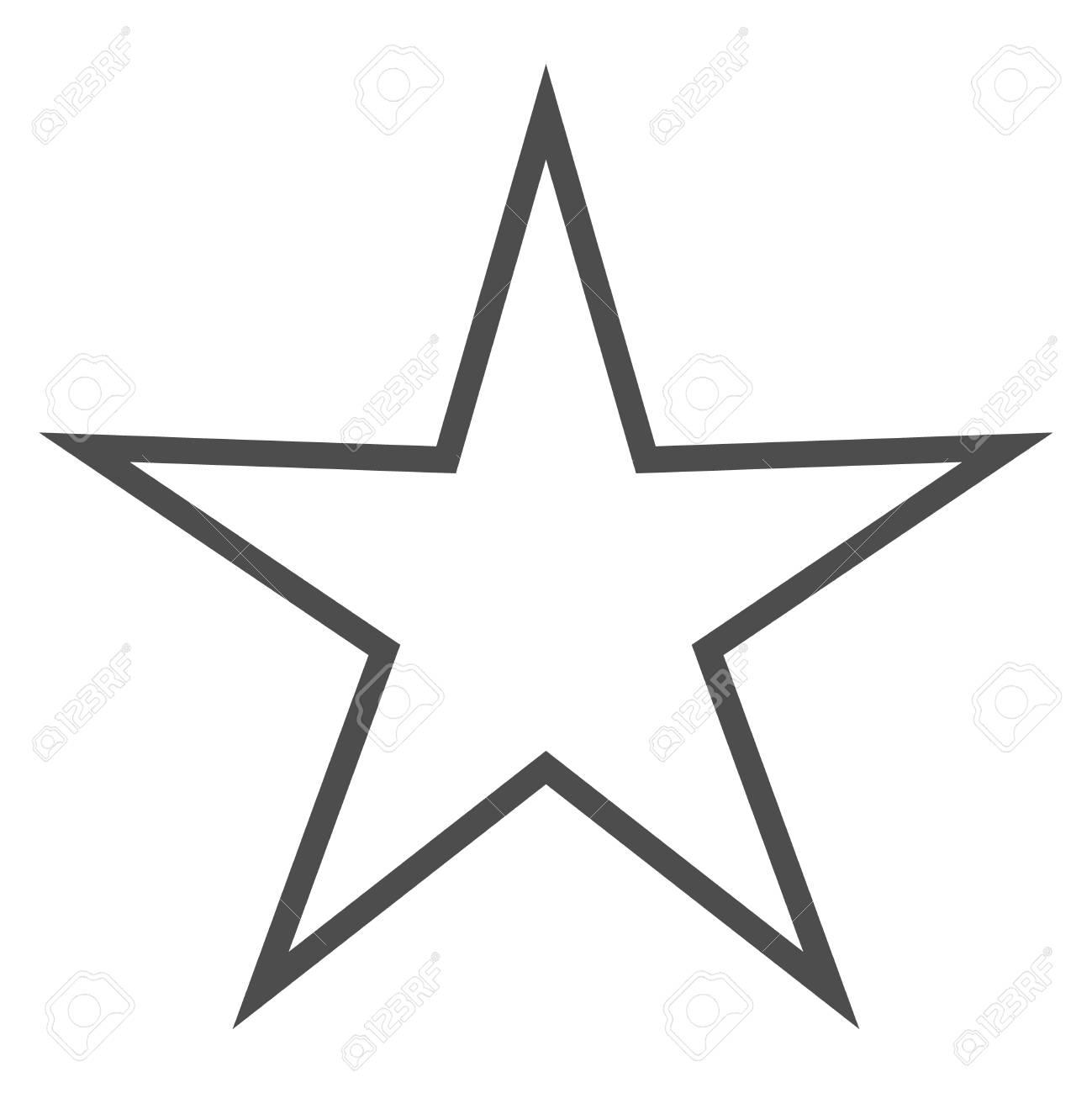 Icône étoile Grise Et Noire Isolée Marque De Classement Signe Favori Moderne Simple Symbole De Décoration Pour La Conception De Site Web Bouton
