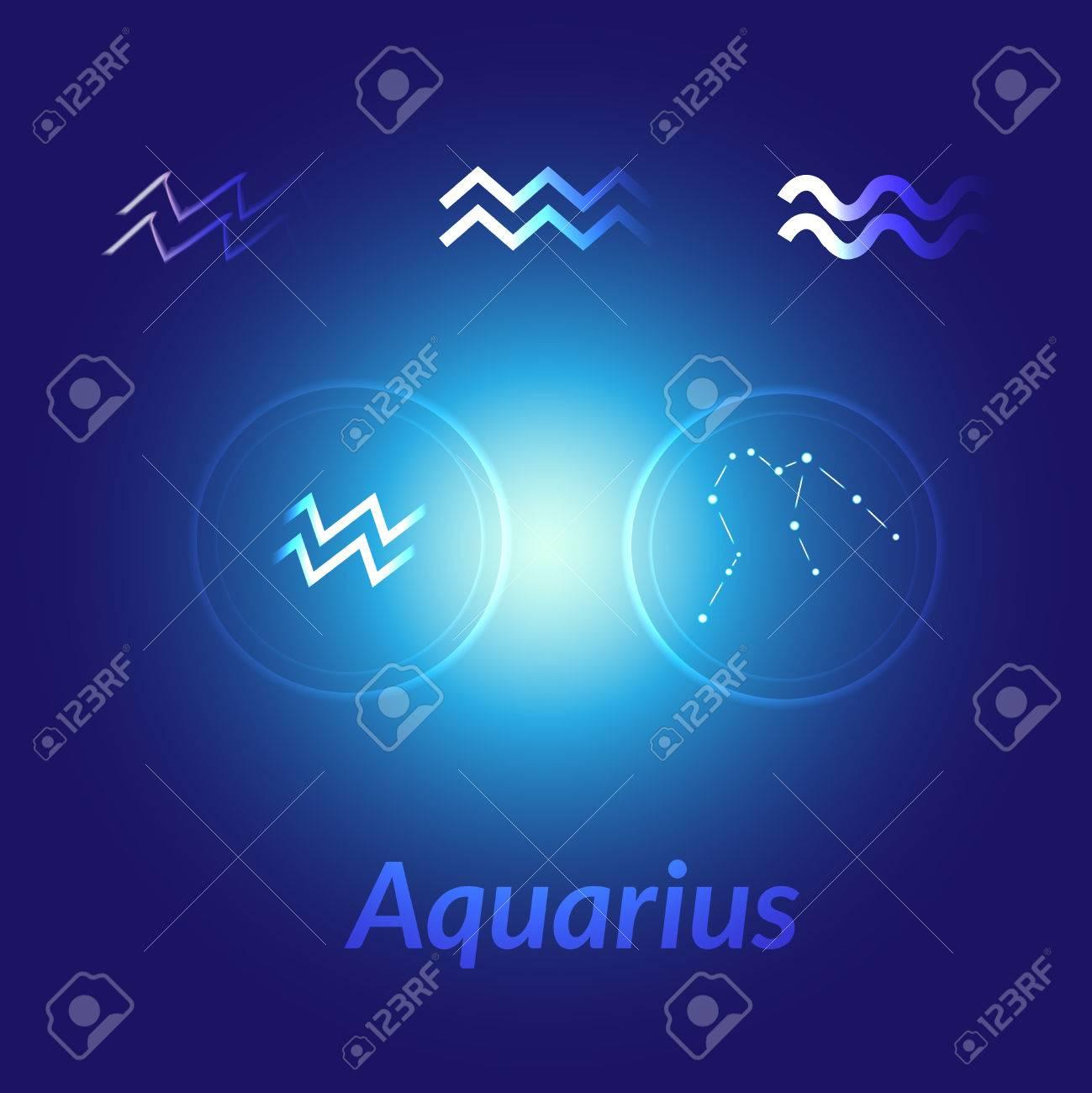 The Water Bearer Aquarius Sings Set Star Constellation Element