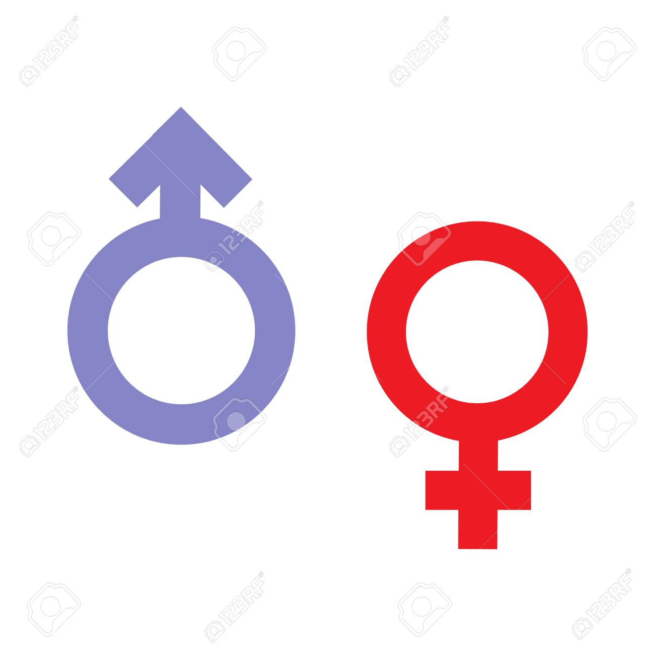 Gender Inequality And Equality Icon Symbol Male Female Girl