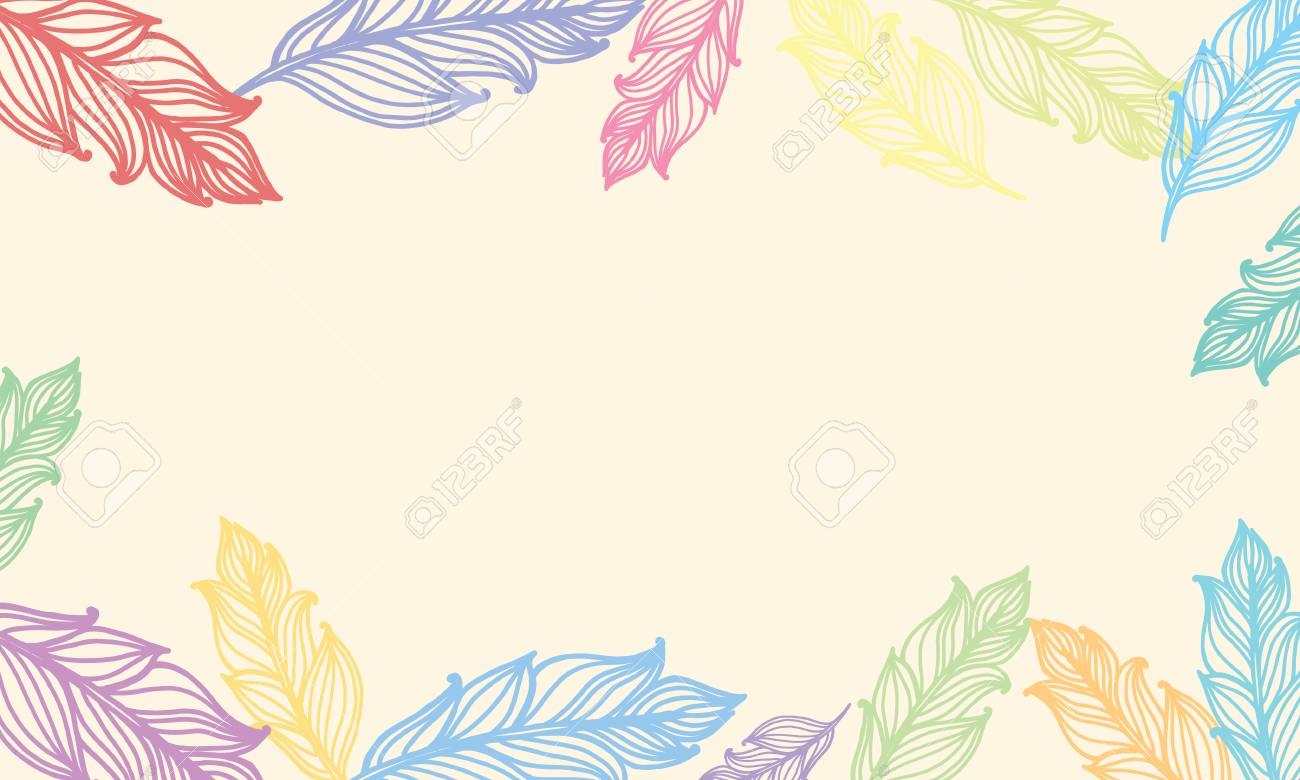 cute background with feathers card design with border in bohemian stock photo picture and royalty free image image 83835098 cute background with feathers card design with border in bohemian