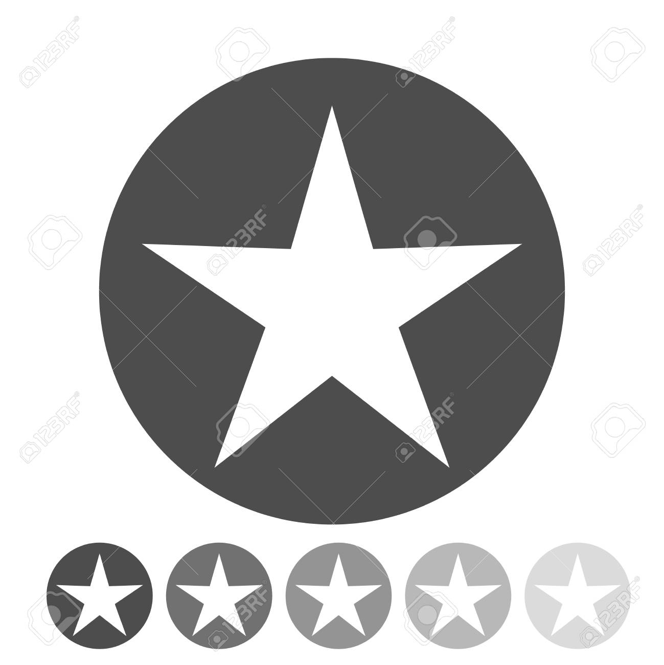 Isolated Gray And Black Star Icon Ranking Mark Modern Simple