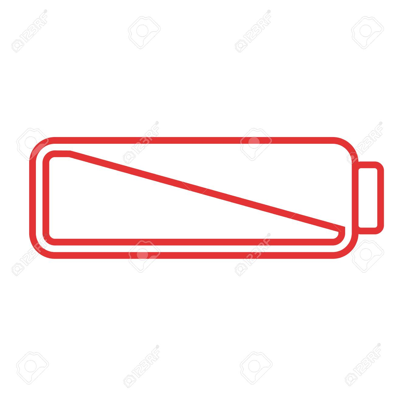 Smartphone Or Cell Phone Low Battery Icon. Low Energy Symbol ...