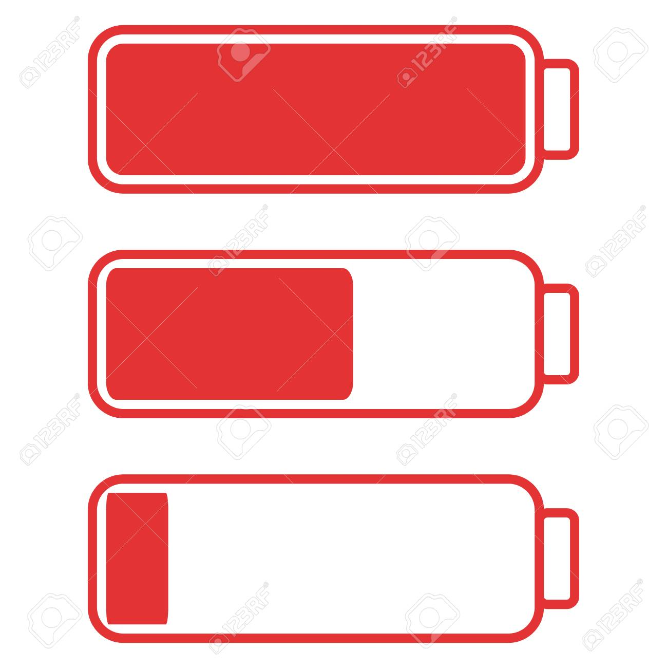 Smartphone or cell phone low battery icon low energy symbol smartphone or cell phone low battery icon low energy symbol flat illustration stock biocorpaavc Images