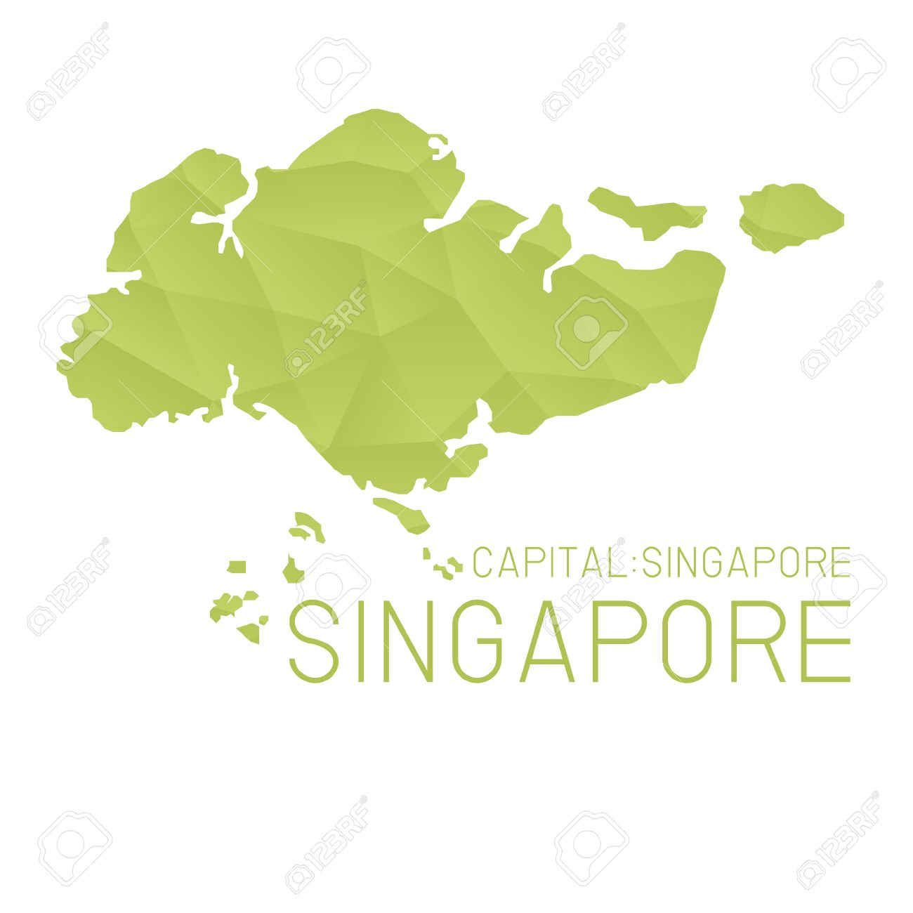 Singapore Map Geometric Background Royalty Free Cliparts Vectors