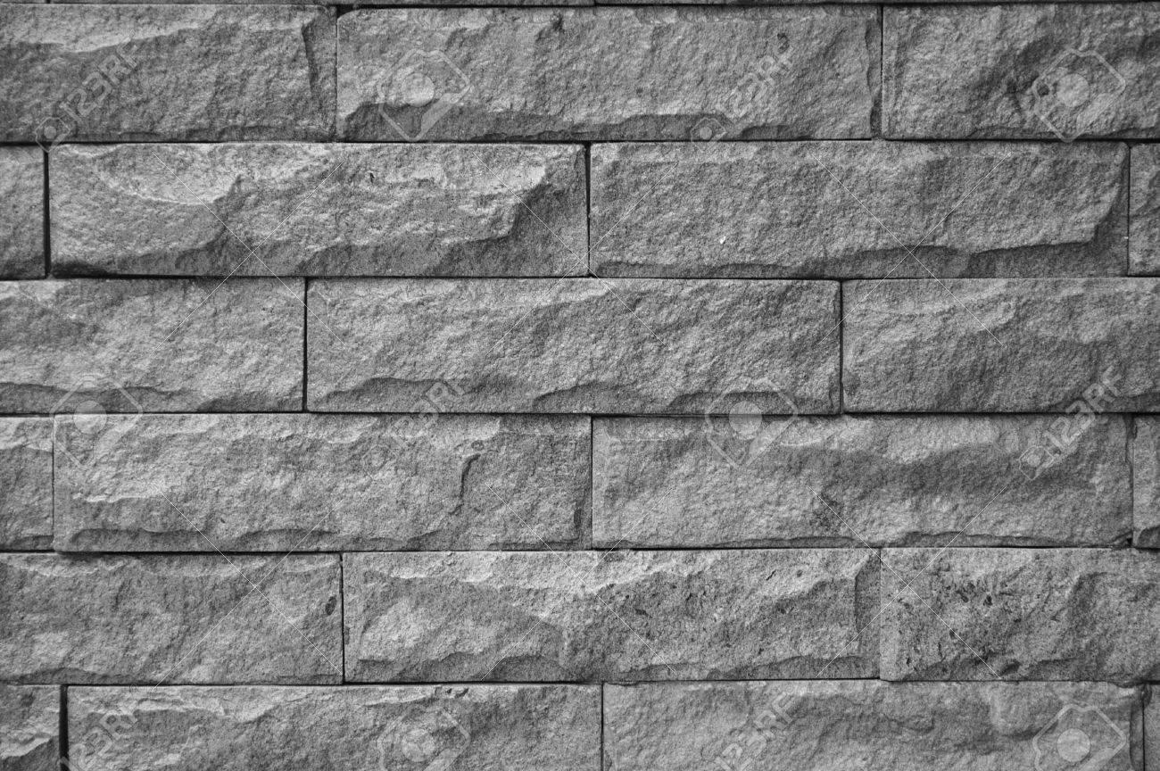 muro de piedra tono de escala de grises foto de archivo