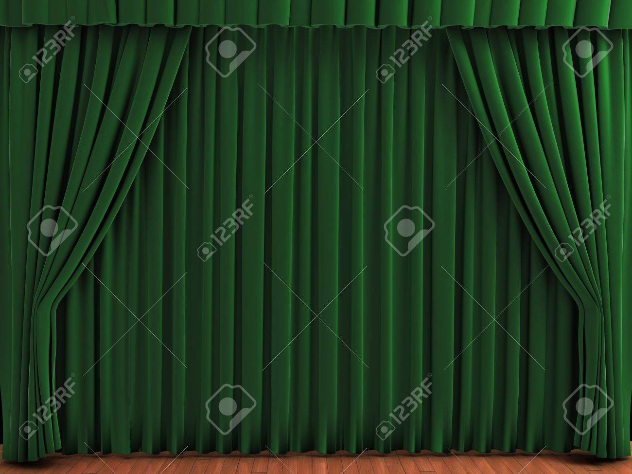 Green stage curtains - Green Theater Curtains Realistic Illustration Of Velvet Curtains See My Portfolio For Alternative Colors