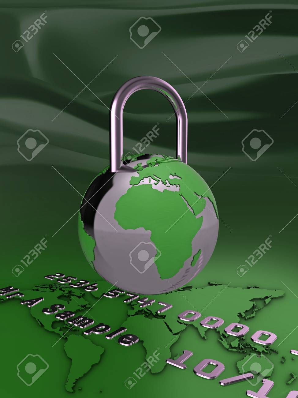 Abstract illustration representing secure online payment. Stock Photo - 5754325