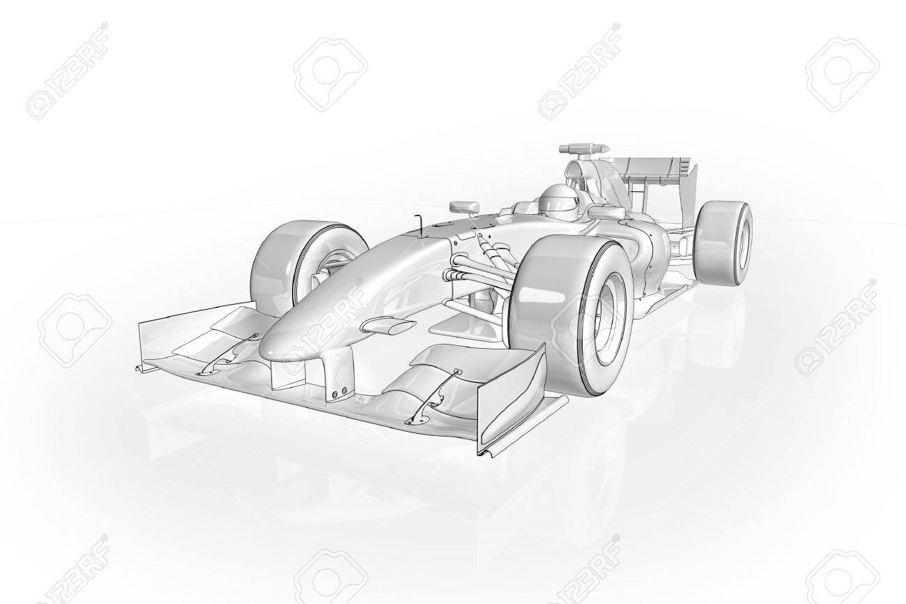 High quality illustration of an Formula 1 racing car Stock Illustration - 5787162
