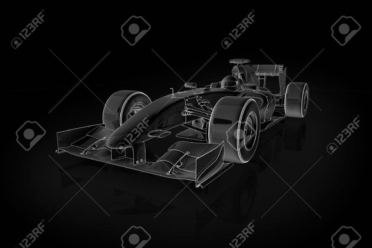 Hohe Qualität-Abbildung Von Einer Formel 1-Rennwagen Lizenzfreie ...