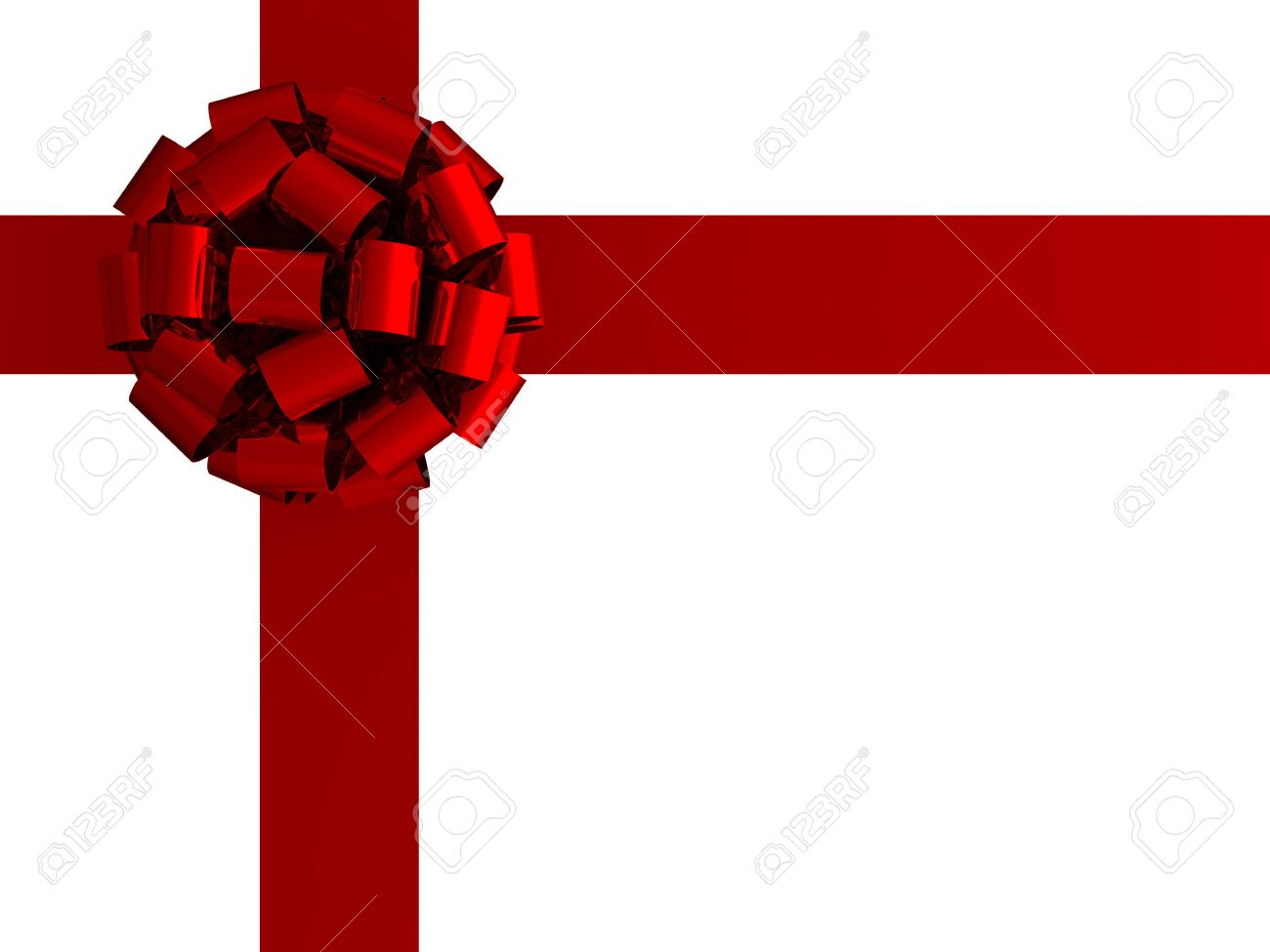 3d illustration of a gift bow and ribbon Stock Photo - 6261459