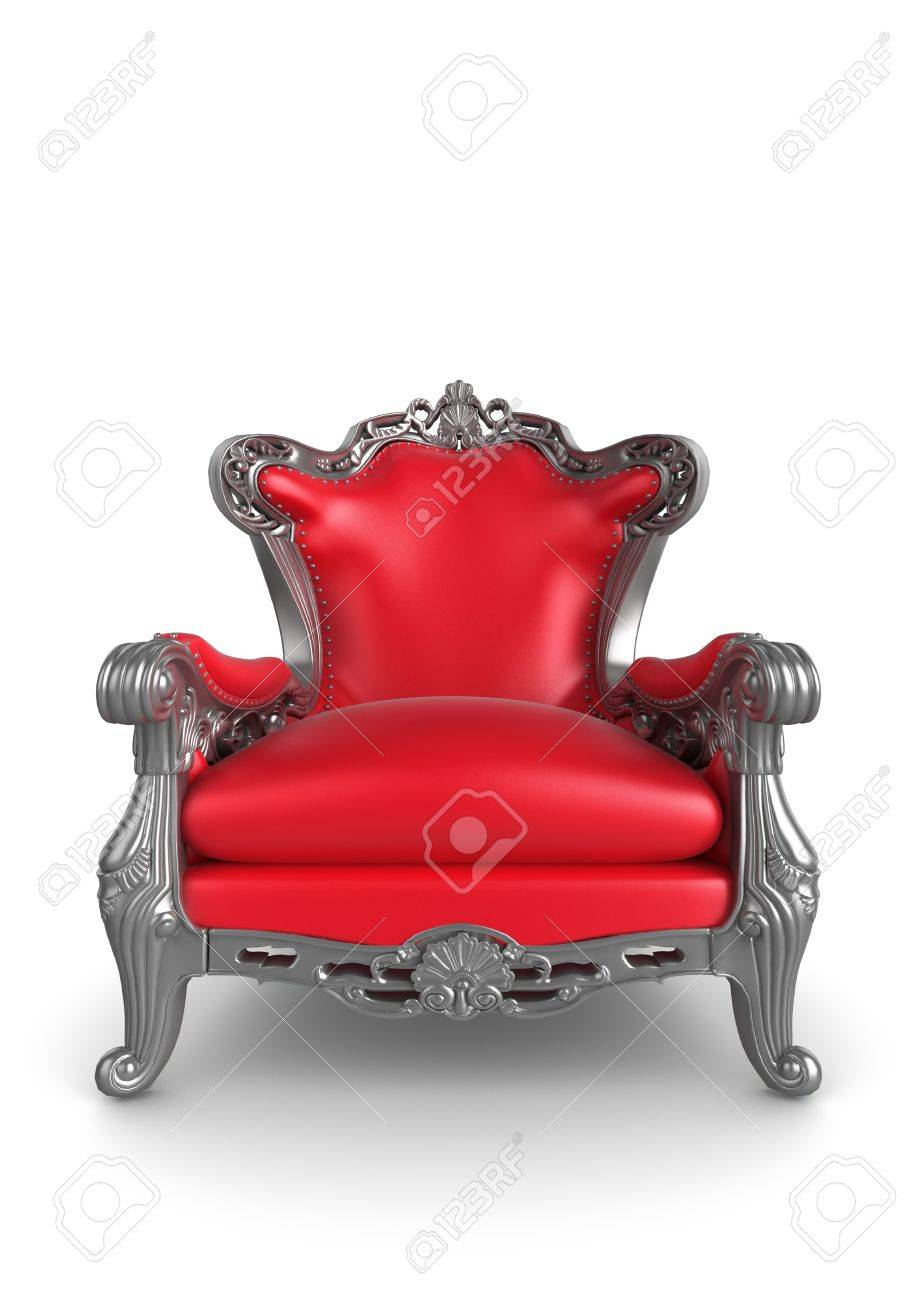 3d Illustration Of A Red And Silver Antique Armchair Stock Illustration    7133574