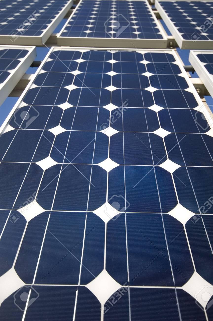 closeup view of solar panels Stock Photo - 851416
