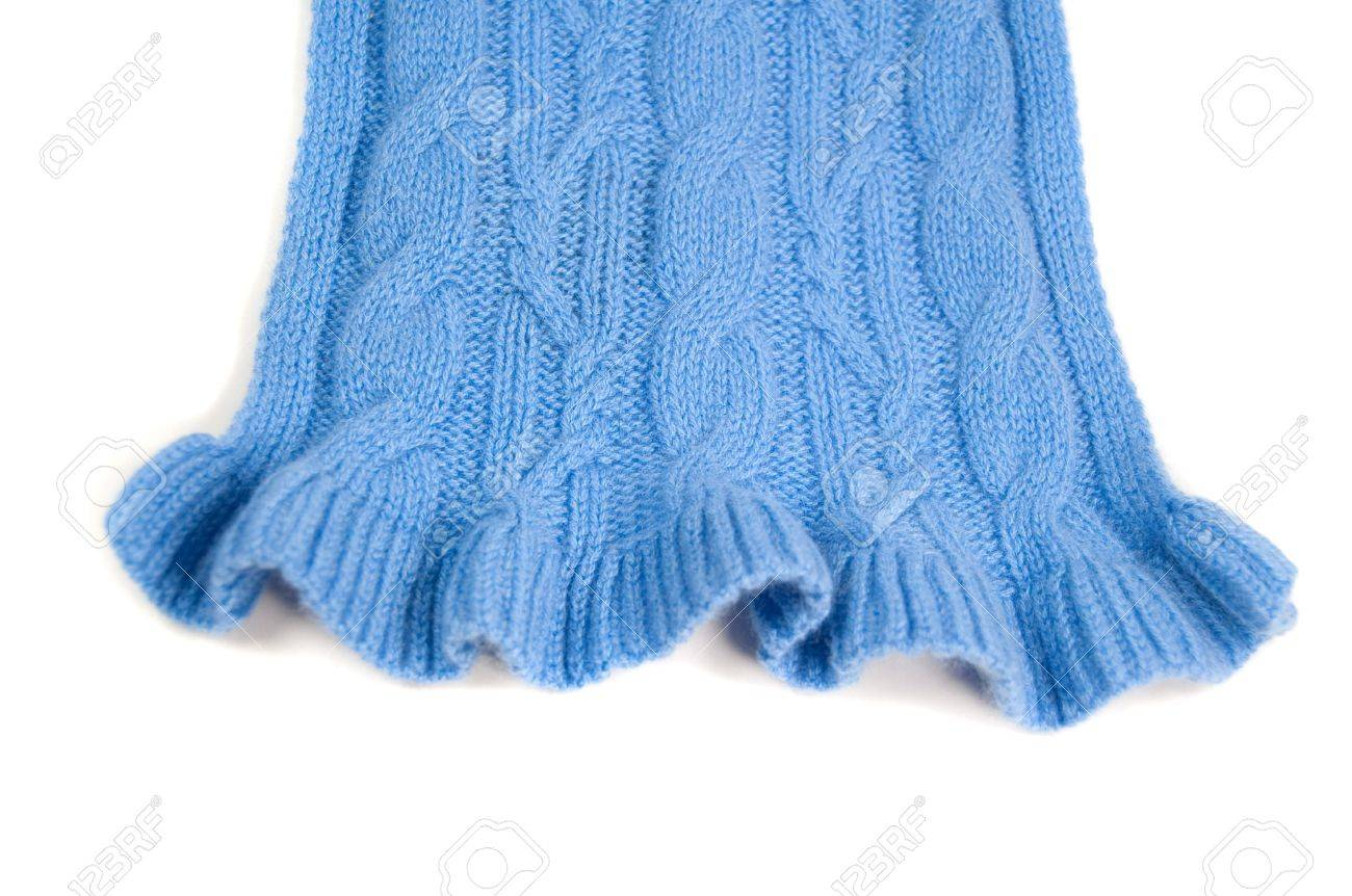 Cable Knit Pattern With A Ruffled Edge Stock Photo Picture And