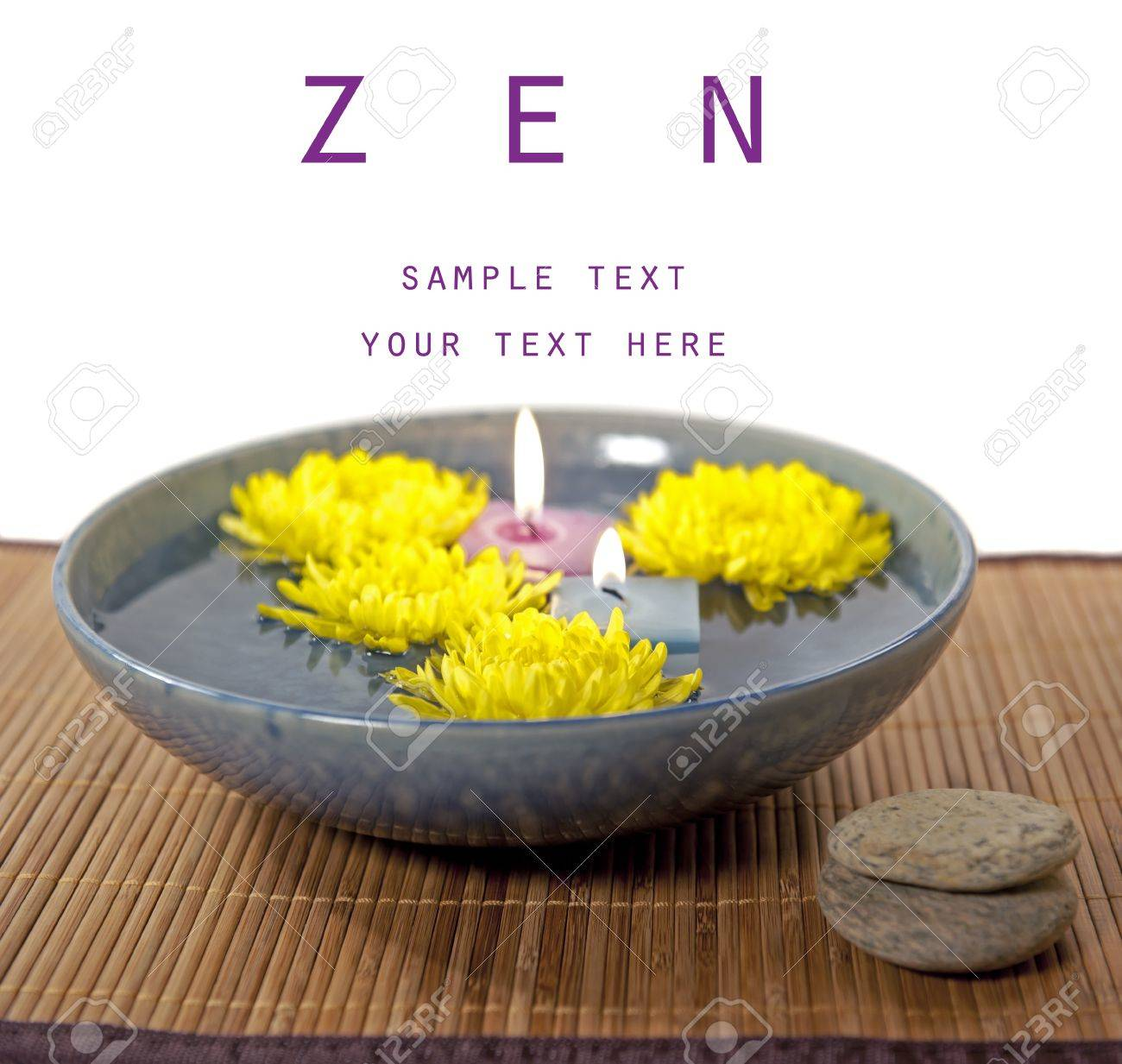 mums and aromatherapy candles in water - 8385427