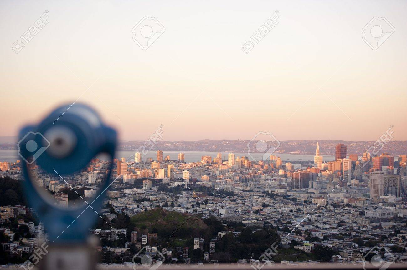 cityscape of san francisco with the city of oakland across the bay - 8733184
