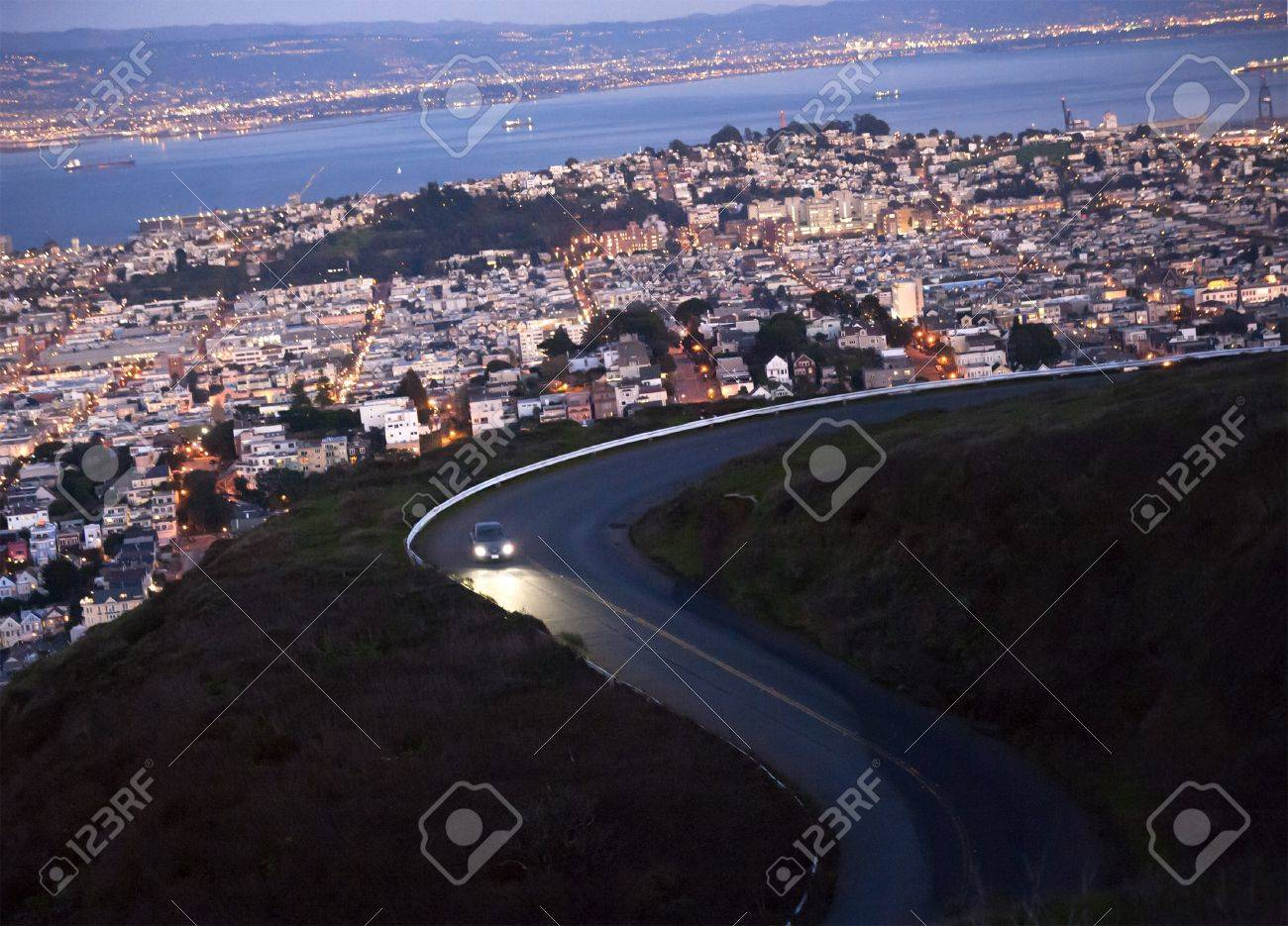 twisted road above san francisco - 8733183