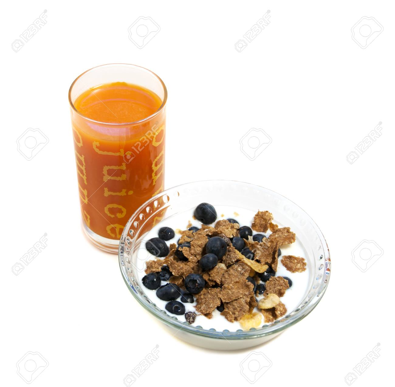 o.j. and blueberry whole wheat cereal breakfast - 9651299