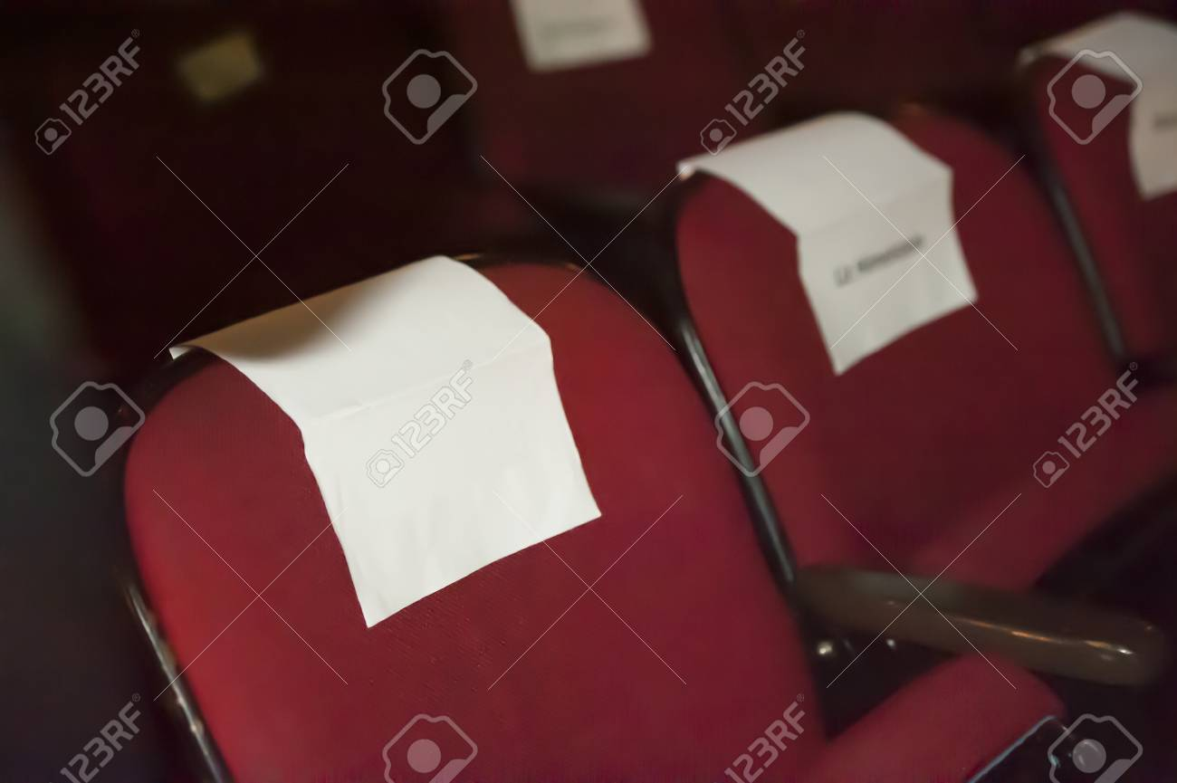 celebrity seating with copy space for text - 9651321