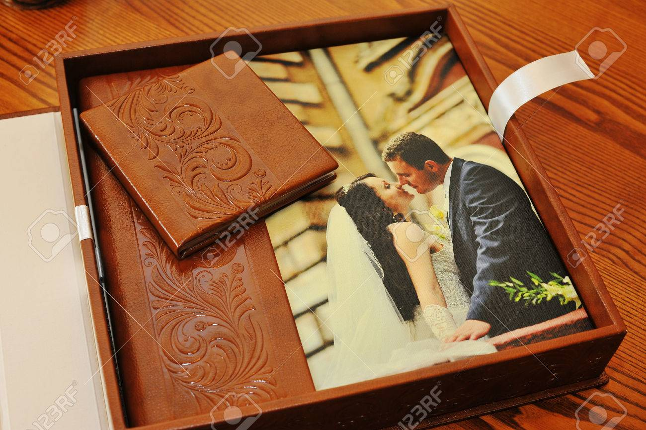 Brown Leather Wedding Photo Book Album Stock Photo Picture And Royalty Free Image Image 40161983