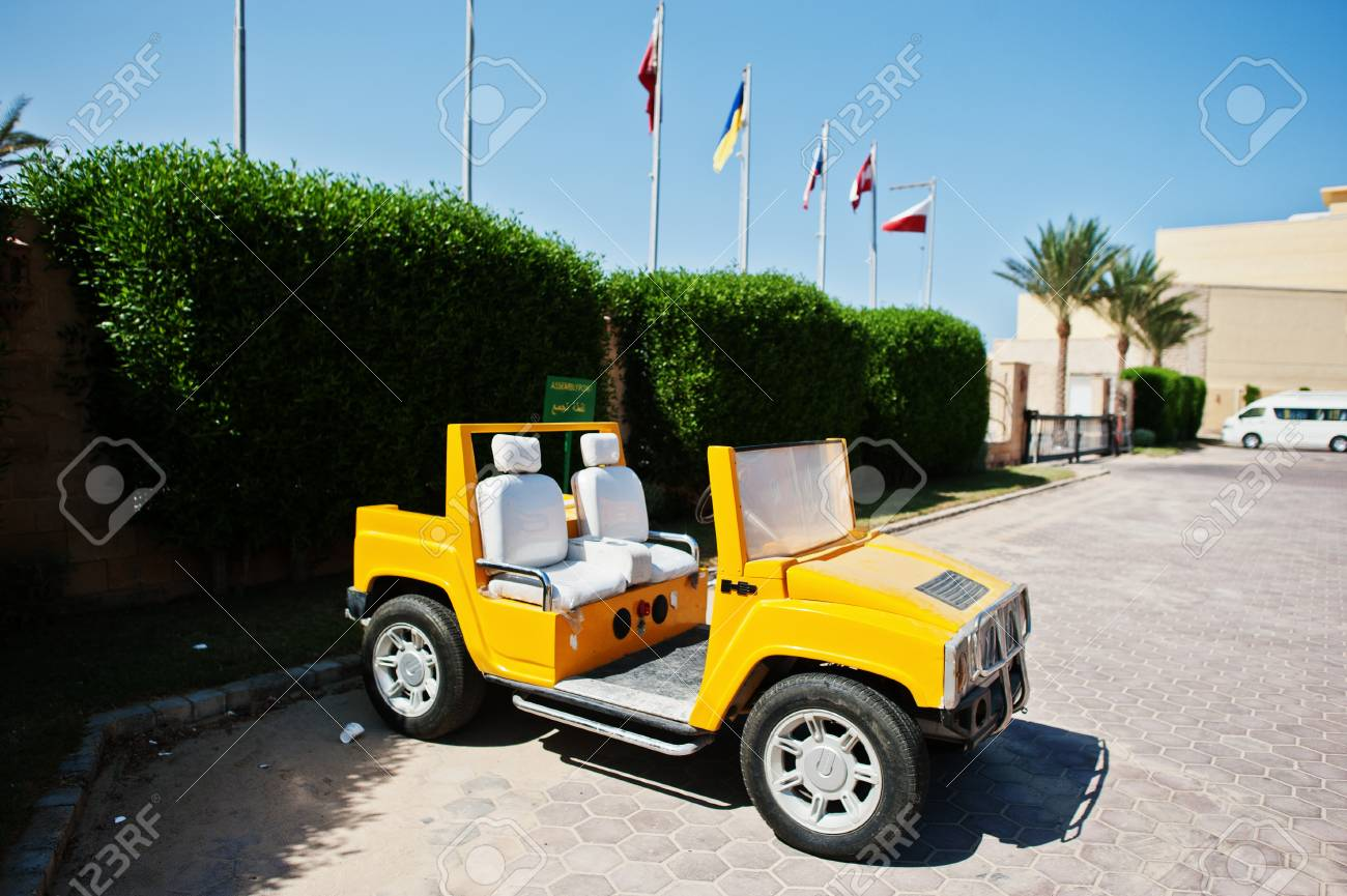 Hurghada, Egypt -14 August 1416: Small copy of Hummer H14 car.. | hummer small