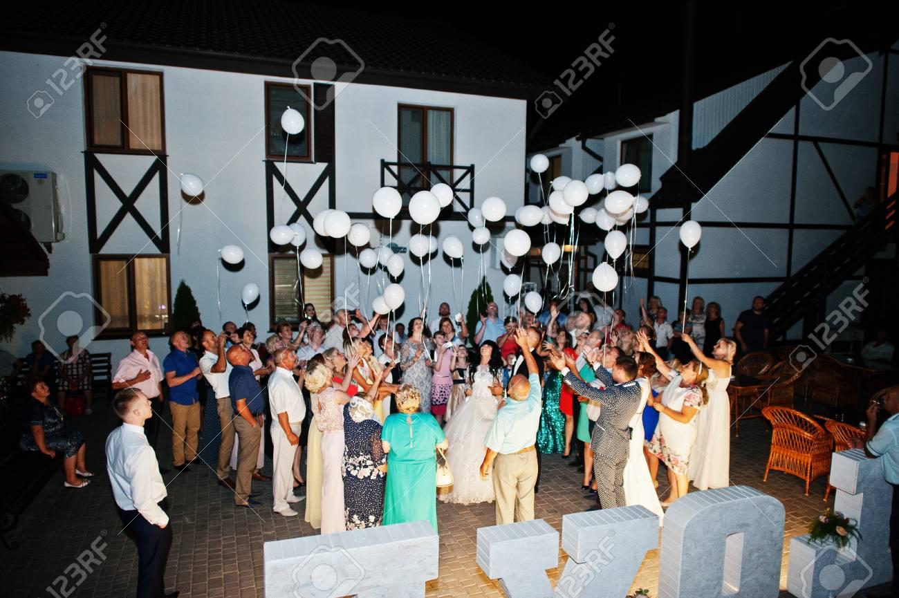 Kiew Ukraine 31 August Menge Von Hochzeitsgasten Und