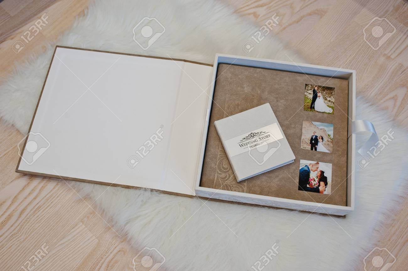 Álbum de fotos de boda blanco