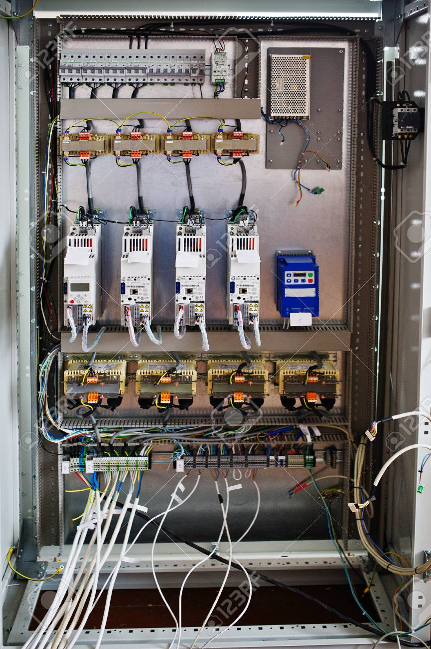 Electrical Panel, Electric Meter And Circuit Breakers. Electric ...