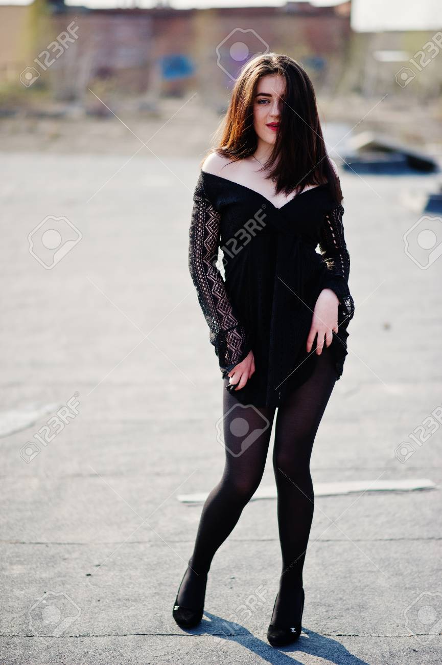 Black Dress with Black Tights