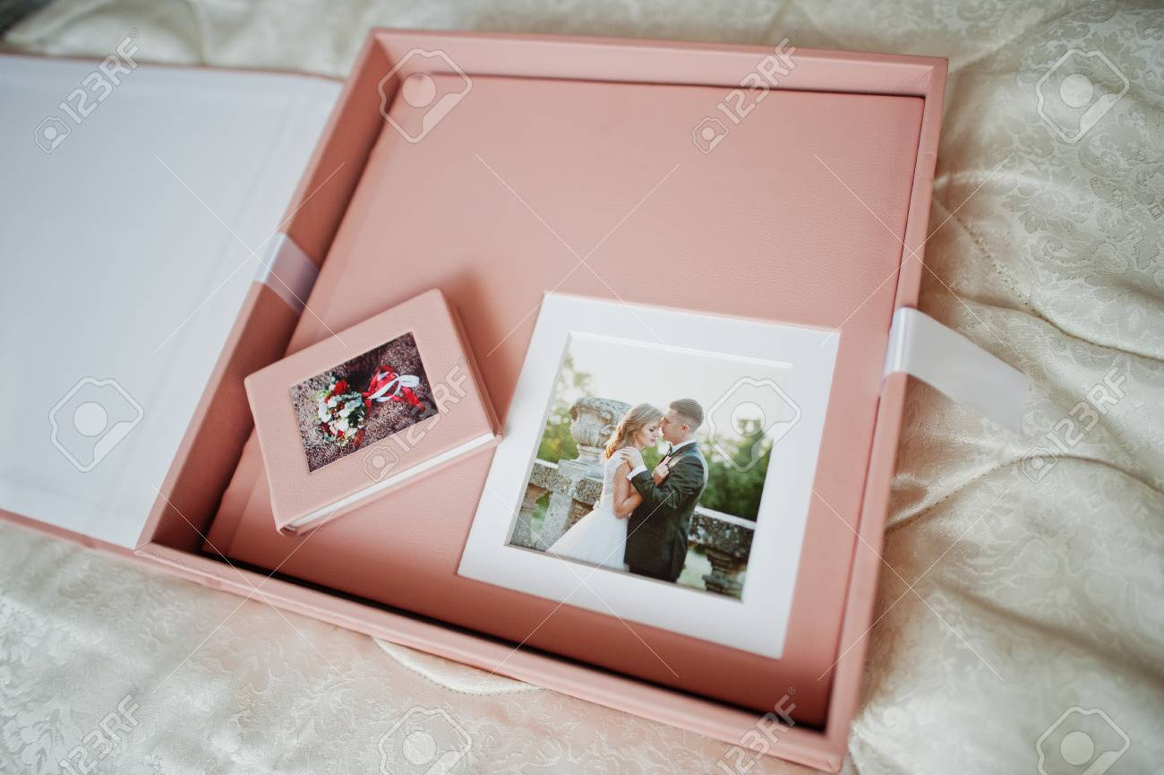 Gentle Pink Wedding Photobook Or Photo Album, Box, And Cd Case ...