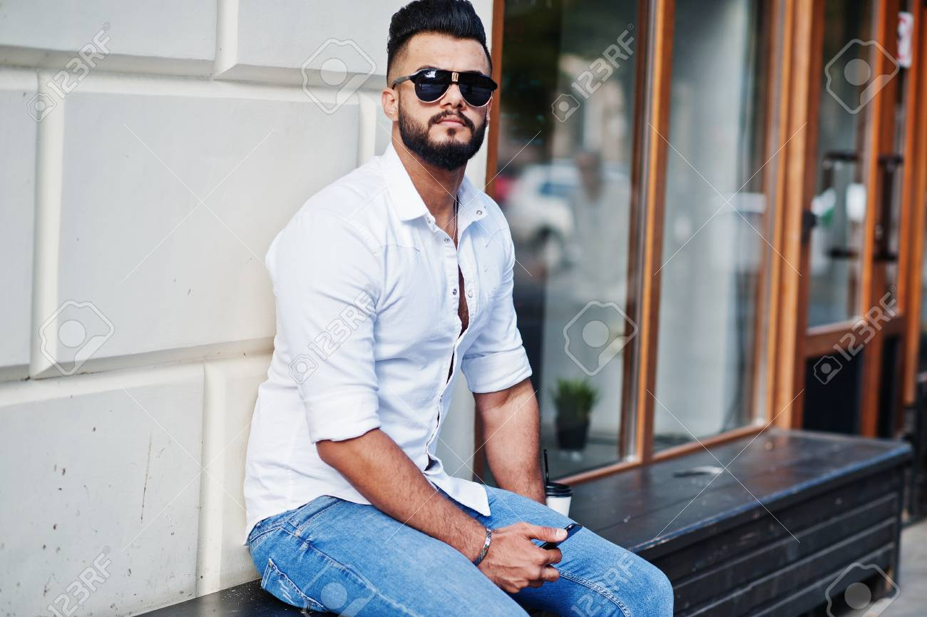 White Shirt And Jeans Male - raveitsafe