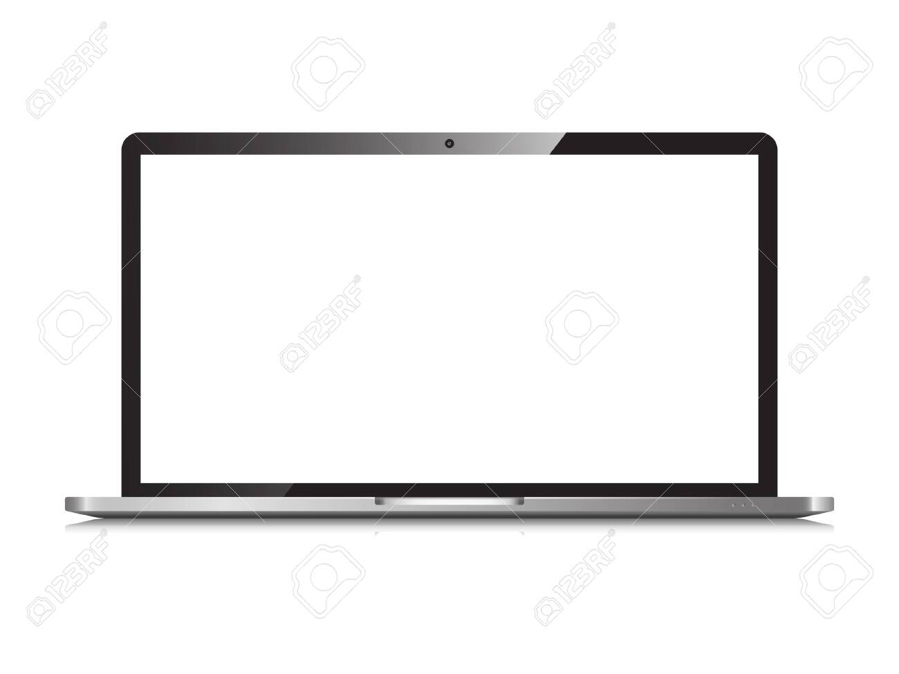Laptop isolated - 127824693