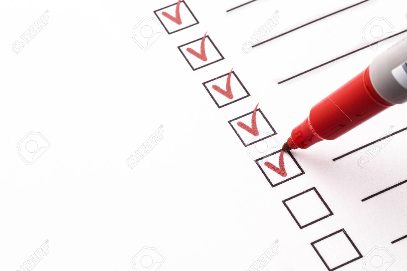 Checklist with pencil - 135252045