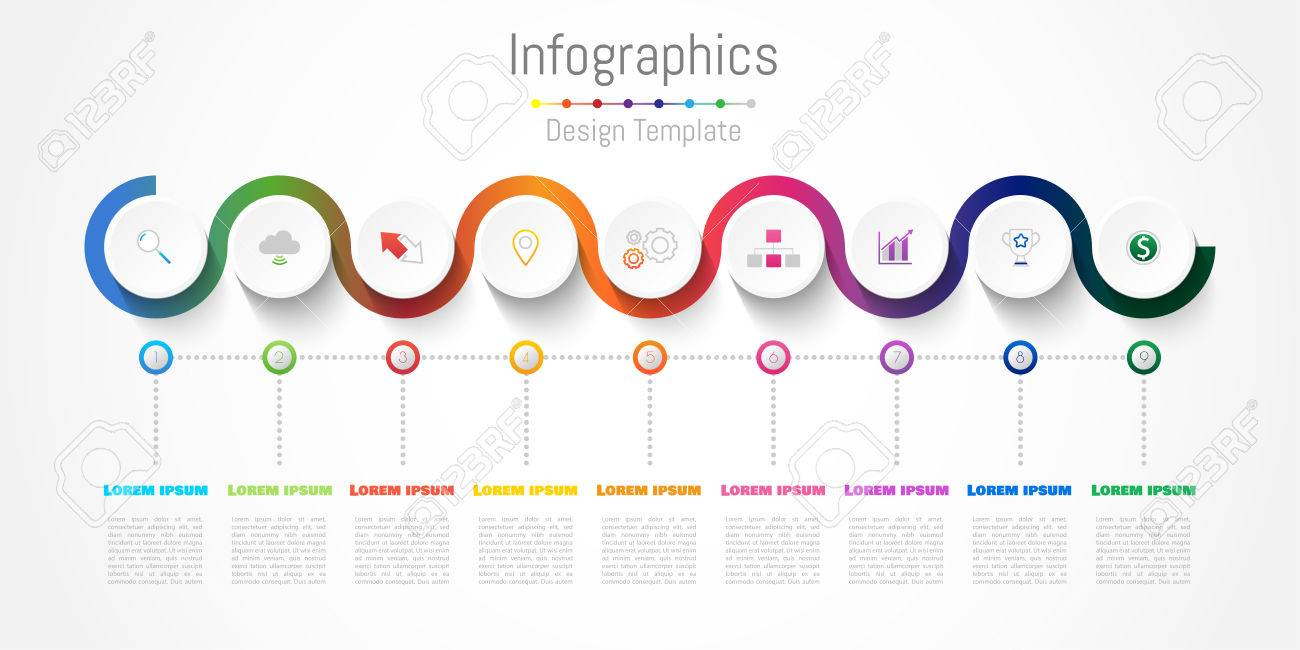 infographic design elements for your business with 9 options