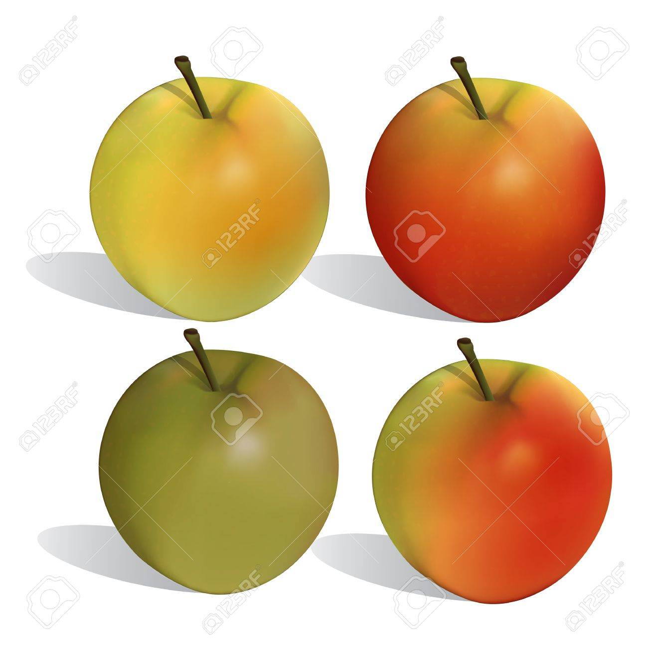Apple a ripeness variant Stock Vector - 14766923