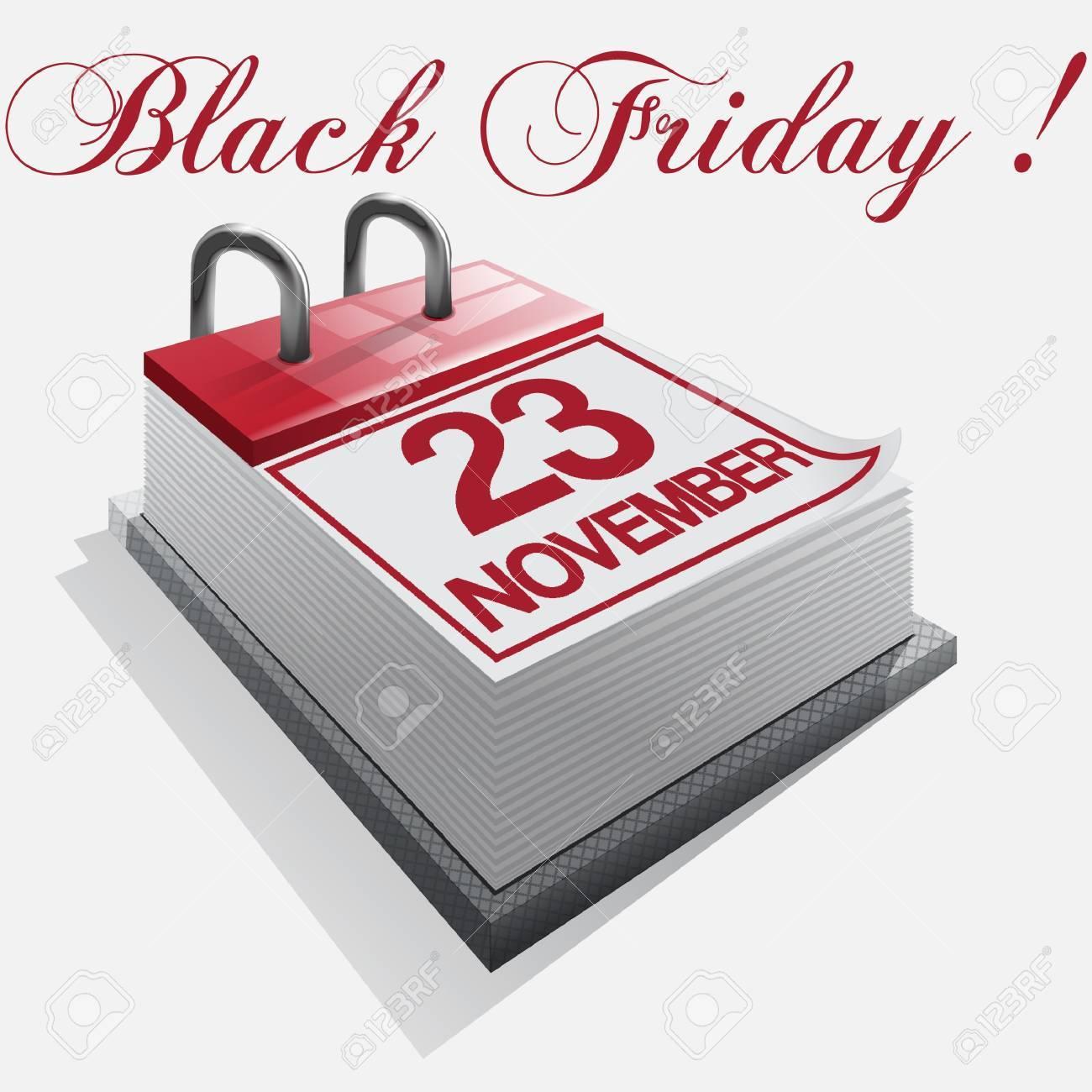 calendar Black friday Stock Vector - 16425922