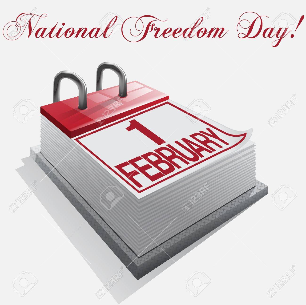 calendar 1 february National Freedom Day Stock Vector - 16921655