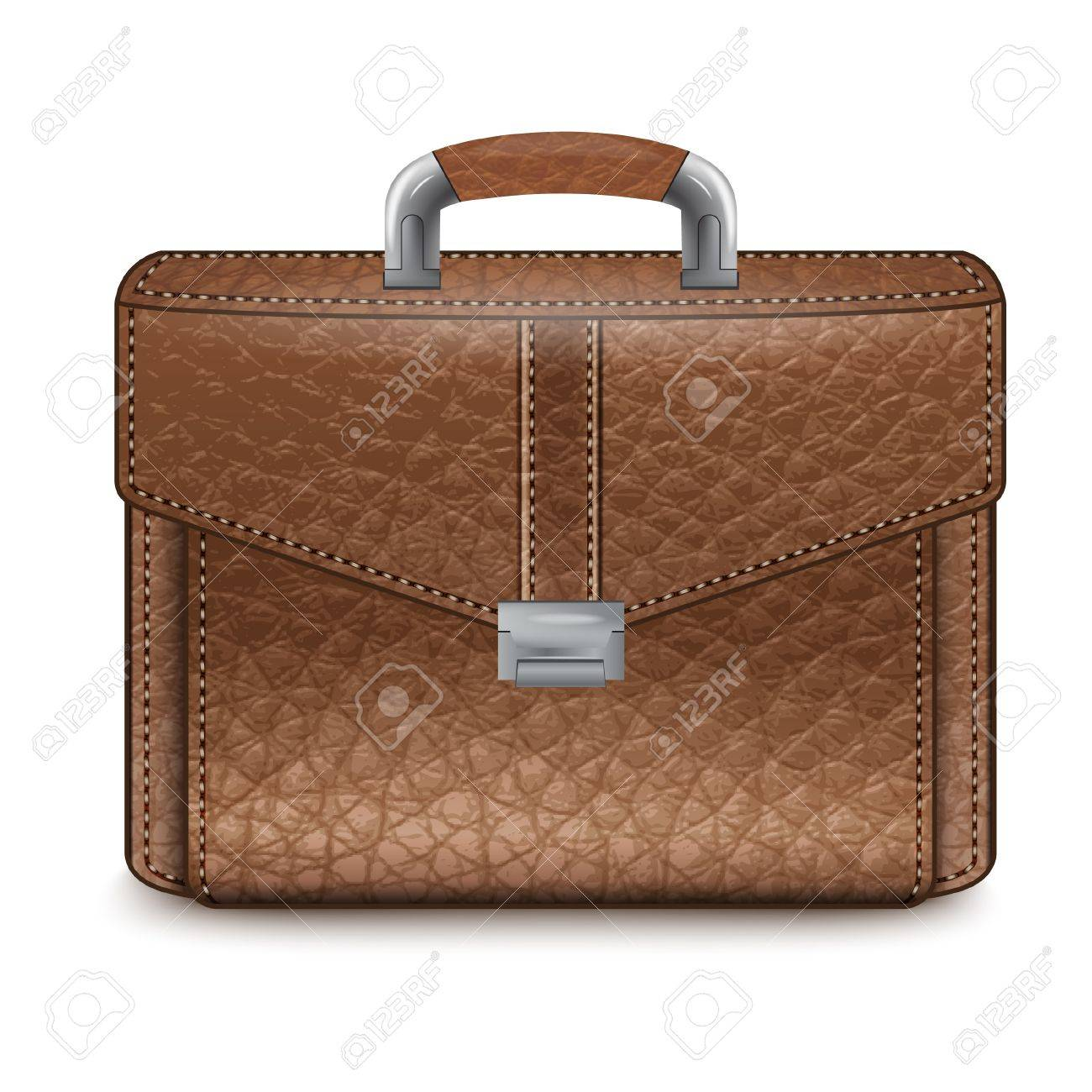 Realistic leather briefcase, vector Stock Vector - 16921636