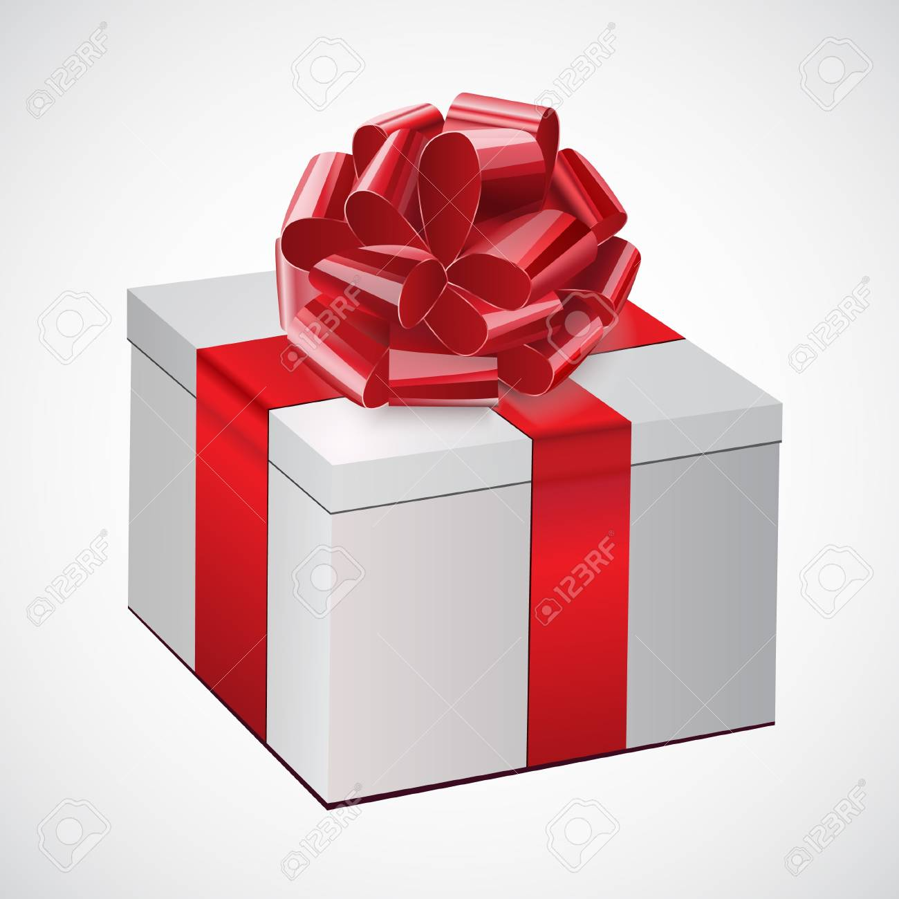 Gift  box with a red bow Stock Vector - 16952549
