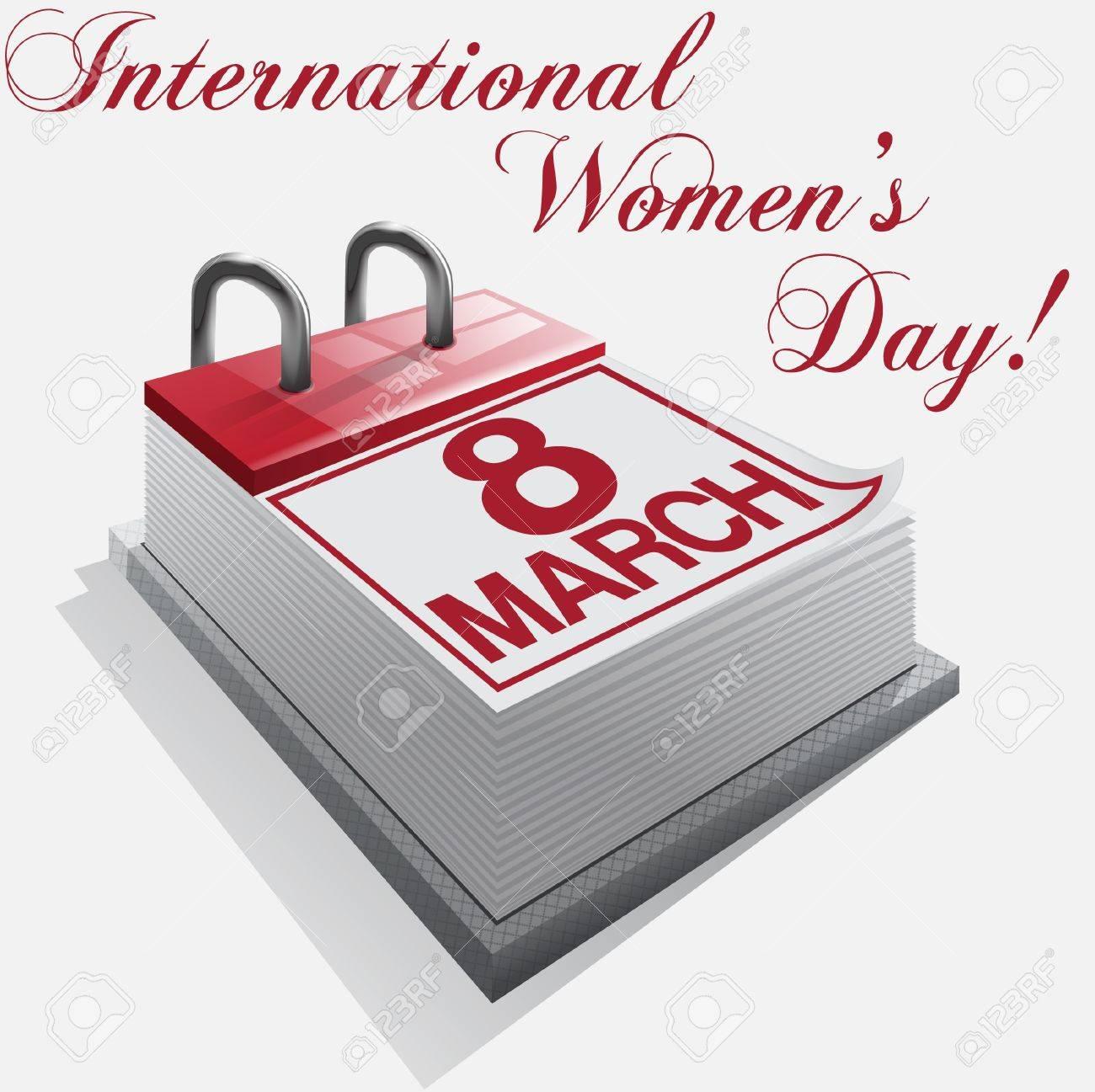 calendar 8 March International Women's Day Stock Vector - 17345432