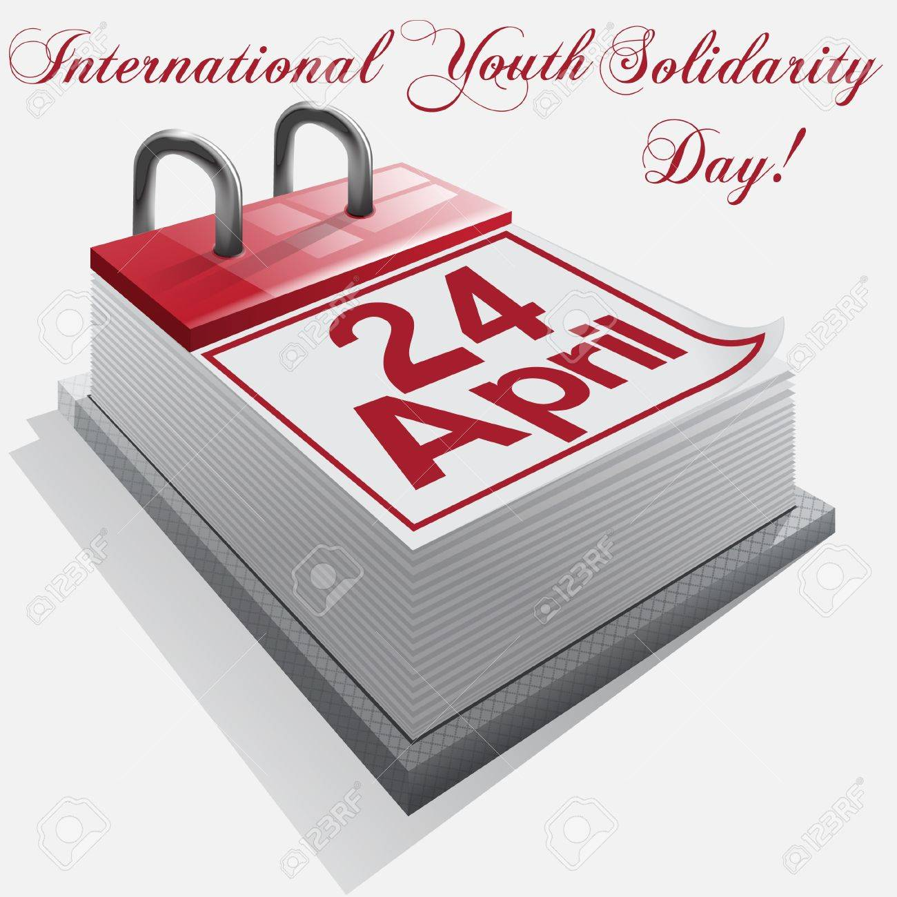 Calendar 24 April, International Youth Solidarity Day Stock Vector - 18134793