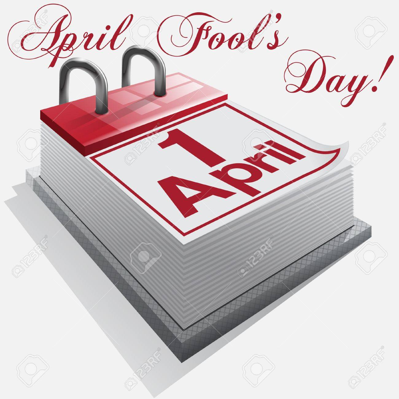 1 April, April Fool's Day, Day of laughter. Stock Vector - 18235186