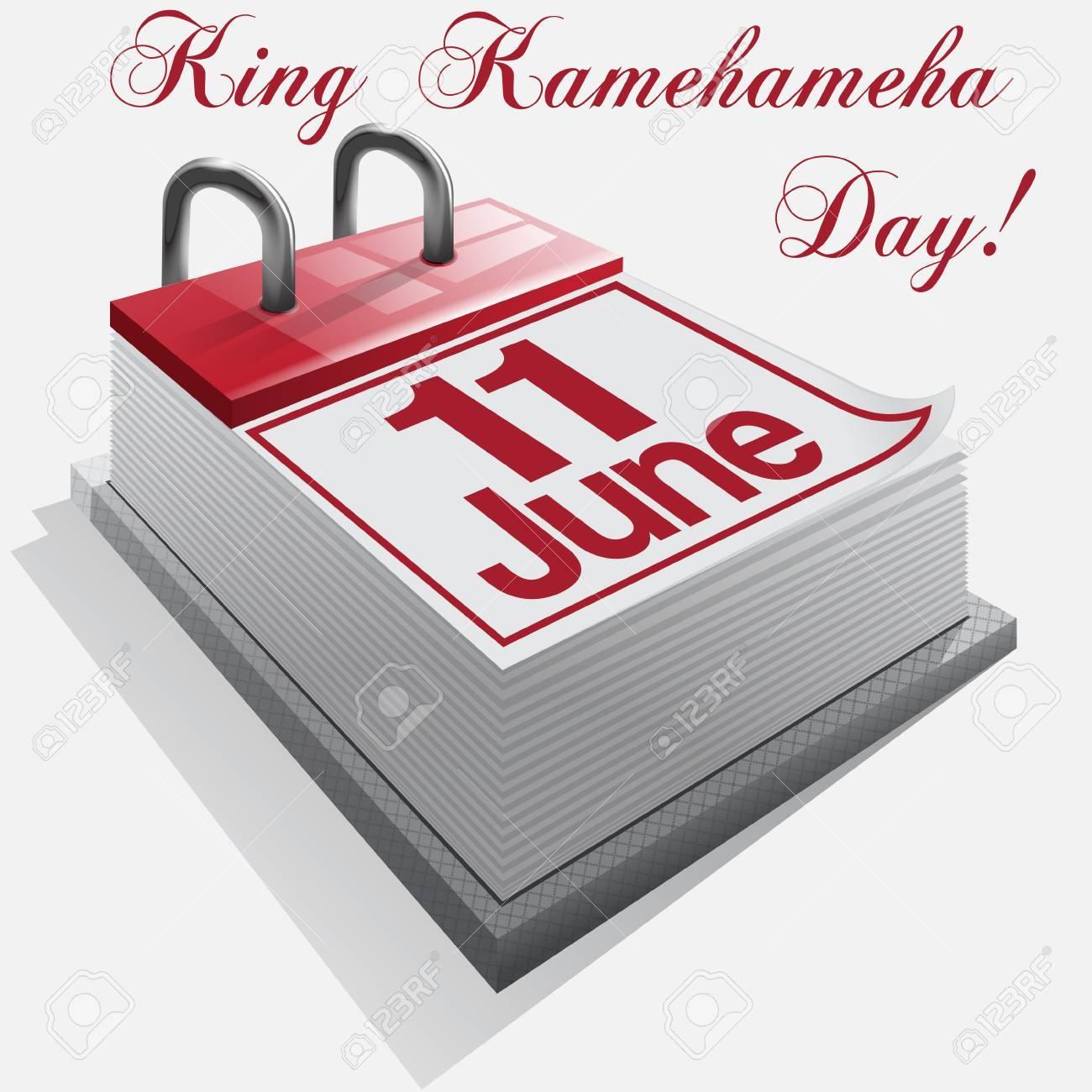calendar 11 June, King Kamehameha Day Stock Vector - 19006887