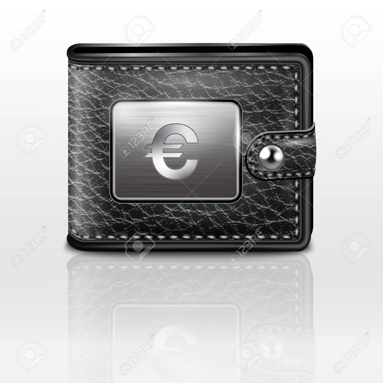 Leather wallet  with euro Stock Vector - 19006815