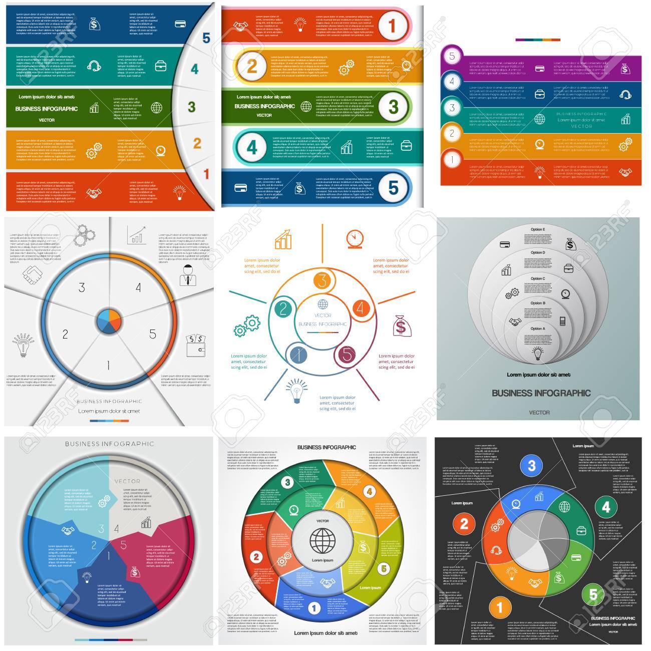 Legen Sie Vorlagen Infografiken Für Geschäftliche Konzeptionelle ...